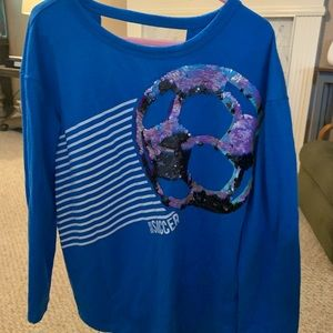 Cute athletic style Justice brand size 6 top